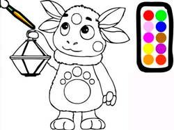 Игры для девочек бесплатно раскраски лунтика